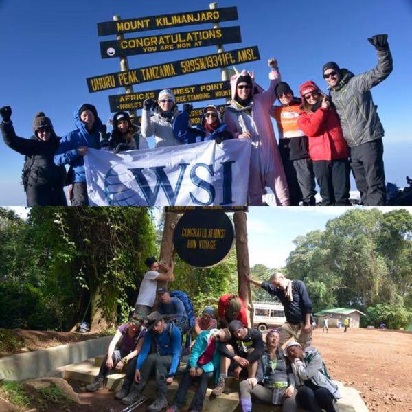 WSI Joins the Kili Climb 4 Kids Expedition