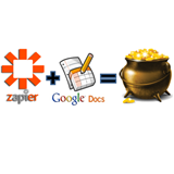 Zapier+GoogleSpreadsheets